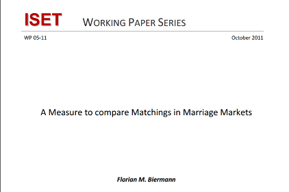 A Measure to compare Matchings in Marriage Markets
