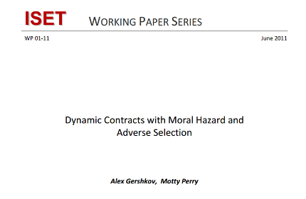 Dynamic Contracts with Moral Hazard and Adverse Selection