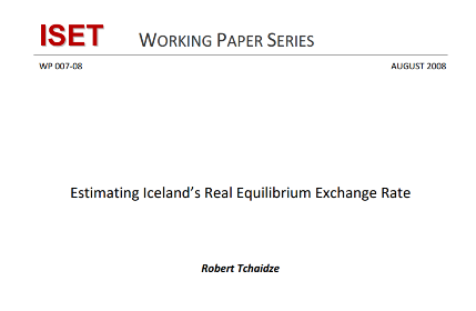 Estimating Icelands Real Equilibrium Exchange Rate