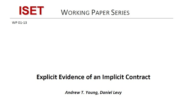Explicit Evidence of an Implicit Contract