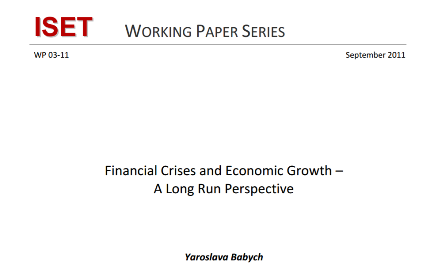 Financial Crises and Economic Growth A Long Run Perspective