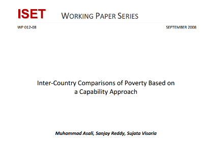 InterCountry Comparisons of Poverty Based on a Capability Approach