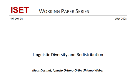 Linguistic Diversity and Redistribution