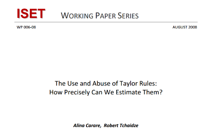 The Use and Abuse of Taylor Rules How Precisely Can We Estimate Them