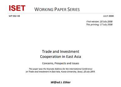 Trade and Investment Cooperation in East Asia