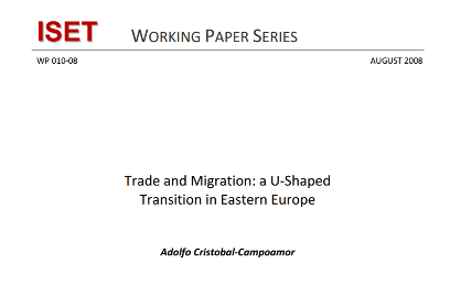 Trade and Migration a UShaped Transition in Eastern Europe