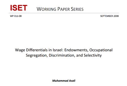 Wage Differentials in Israel Endowments Occupational Segregation