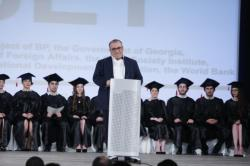 Minister-of-Education-Aleksandre-Jejelava-speaking-at-the-graduation