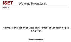 An Impact Evaluation of Mass Replacement of School Principals in Georgia