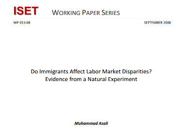 Do Immigrants Affect Labor Market Disparities Evidence from a Natural Experiment