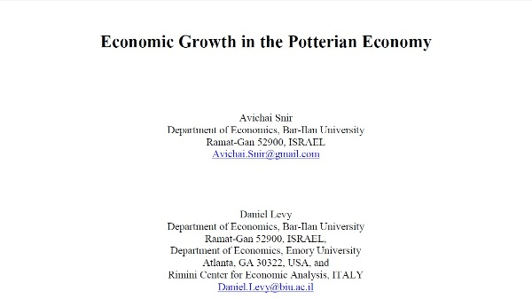 Economic Growth in the Potterian Economy