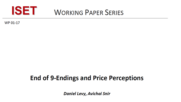 End of 9 Endings and Price Perceptions