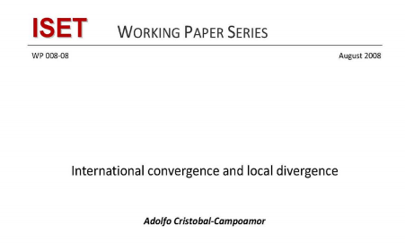 International convergence and local divergence