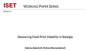 Measuring Food Price Volatility in Georgia