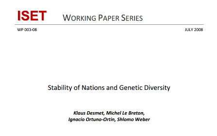 Stability of Nations and Genetic Diversity