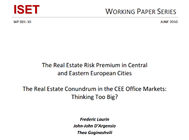 The Real Estate Risk Premium in Central and Eastern European Cities
