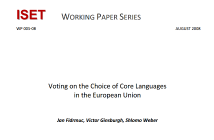 Voting on the Choice of Core Languages in the European Union
